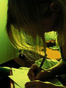 Photo of writer writing